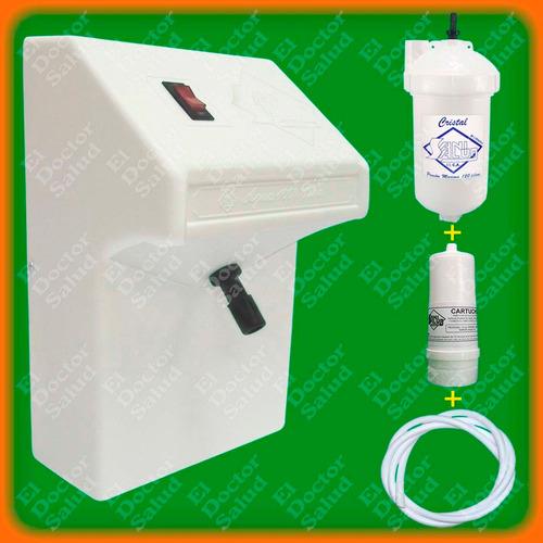 planta ozono sani salud fija blanca + filtro agua + multikit