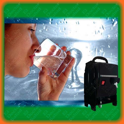 planta ozono trio salud- portatil ng + filtro agua+ obsequio