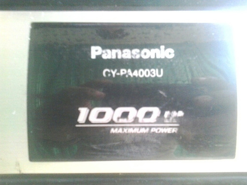 planta panasonic4 canales 1.000 w excelente.