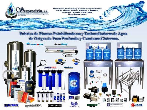 planta  potabilizadora y embotelladora de agua potable