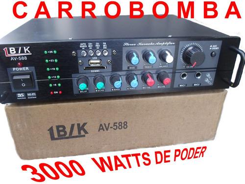 planta power 3000 watts 200 rms p bajos medios, corneta fuer