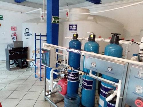 planta purificadora  de agua con osmosis inversa