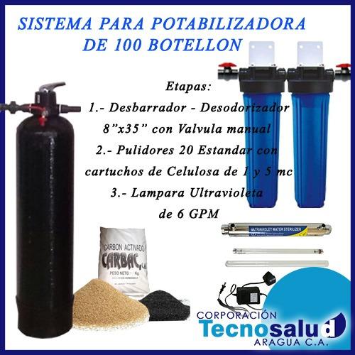planta purificadora de agua para 100 botellones