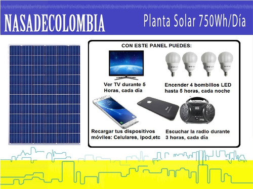 planta solar 750 wh/día