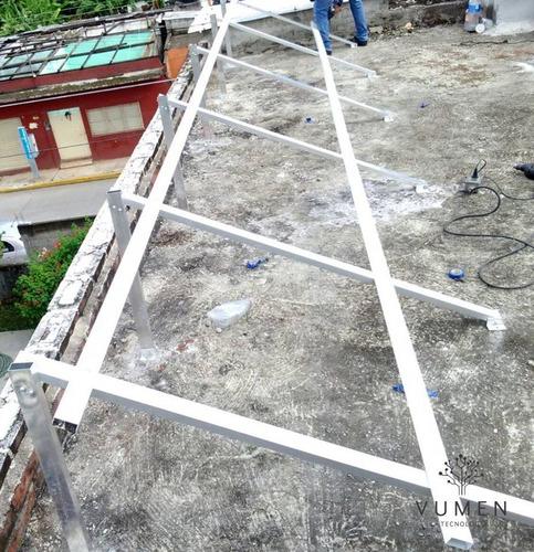 planta solar de interconexión a cfe de 2.2kw/día