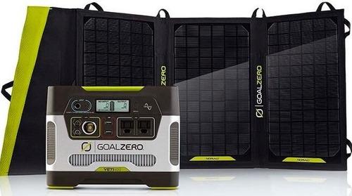 planta solar energía portatil + paneles solares iluminación