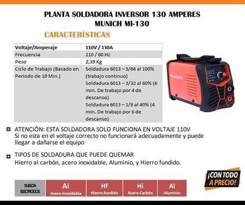 planta soldadora inversor 130 amperes munich mi-130 plan098
