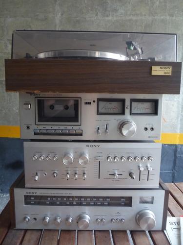 planta tocadiscos 1100 sony original amplificador casets