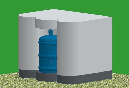 planta tratamiento agua potable. llenadora de botellones