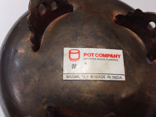 plantadores materos decorativos en bronce hecho en la india
