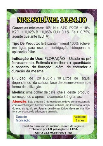 plantafol 10.54.10 adubo npk solúvel floração orquídeas 1 kg