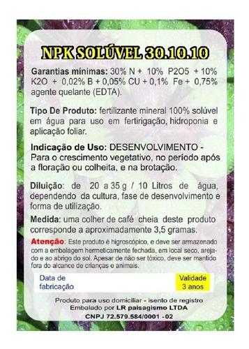 plantafol 30.10.10 adubo npk p crescimento rosa deserto 250g