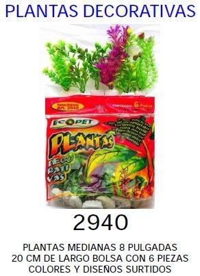 plantas 20 cm bolsa 6 piezas + bomba 1588