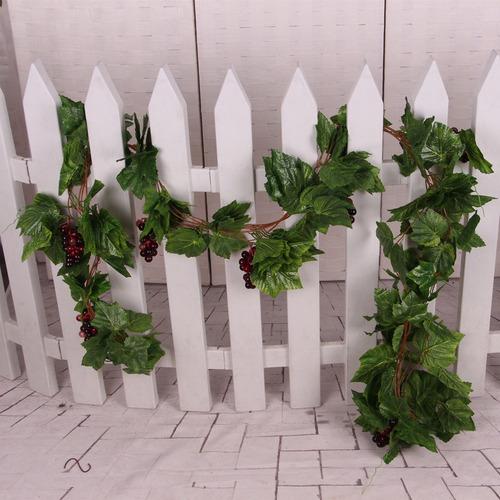 plantas artificiales de seda de uva con vid de fibra de