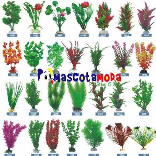plantas artificiales grandes  12 pulgadas acuarios y peceras