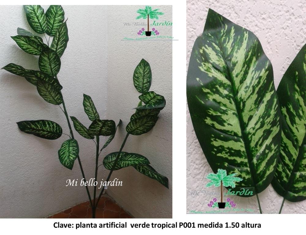Plantas artificiales verdes 3 en mercado libre for Plantas ornamentales artificiales