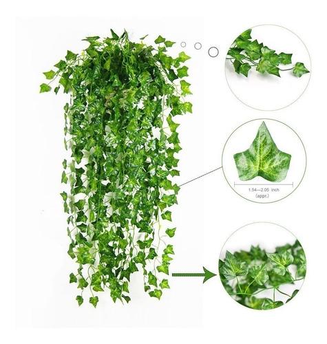 plantas colgantes 12 pz artificial hojas de vid