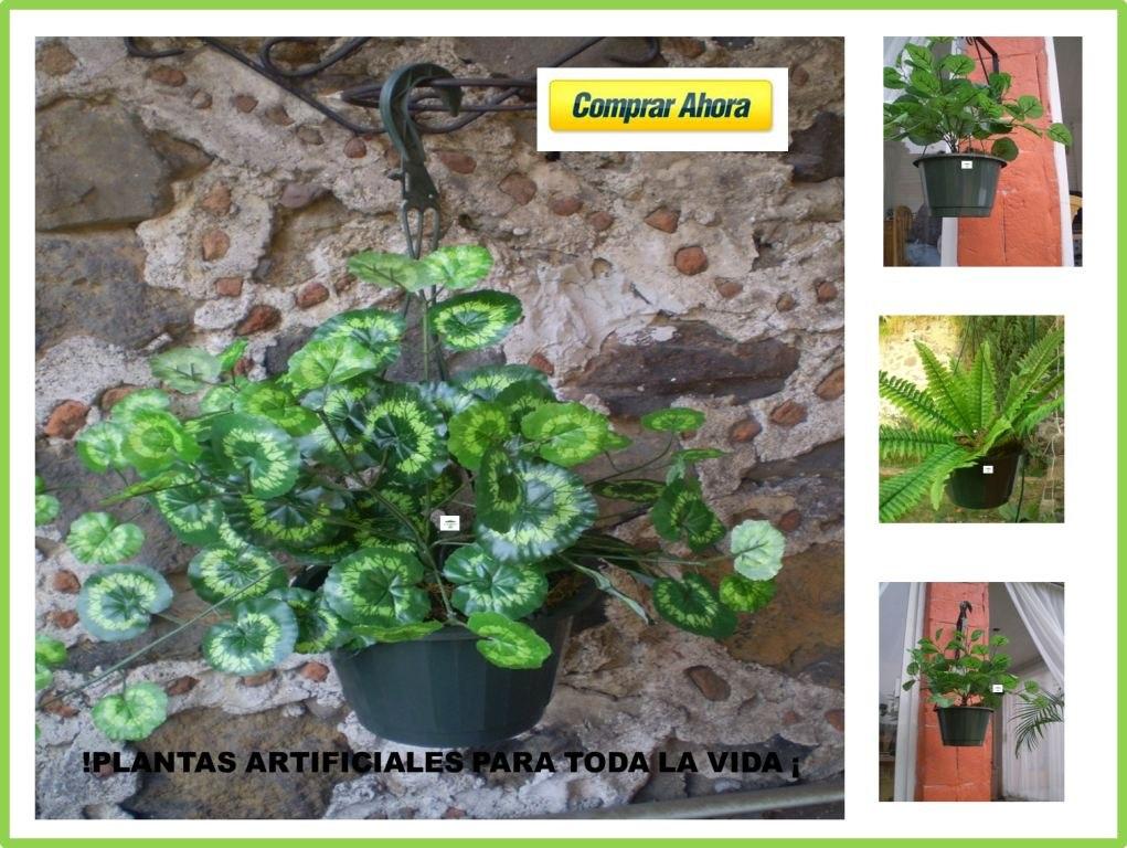 plantas colgantes artificiales