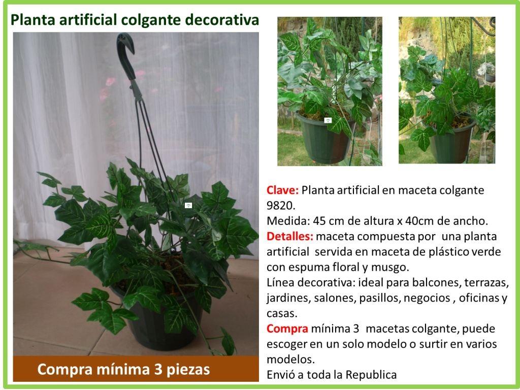 Plantas Colgantes Artificiales 1 En Mercado Libre