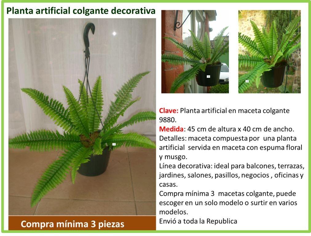 plantas colgantes artificiales cargando zoom - Plantas Colgantes