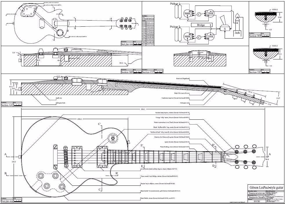 plantas de guitarra pdf esp fender gibson