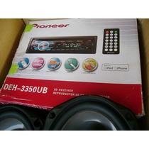 Sonido Para Carro Pioneer Con Planta Boss Bajo Cajon 300 Neg