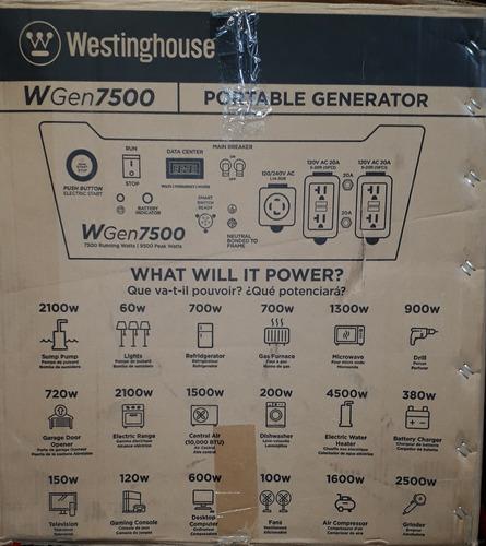 plantas eléctrica westinghouse 7500 /9500 watts