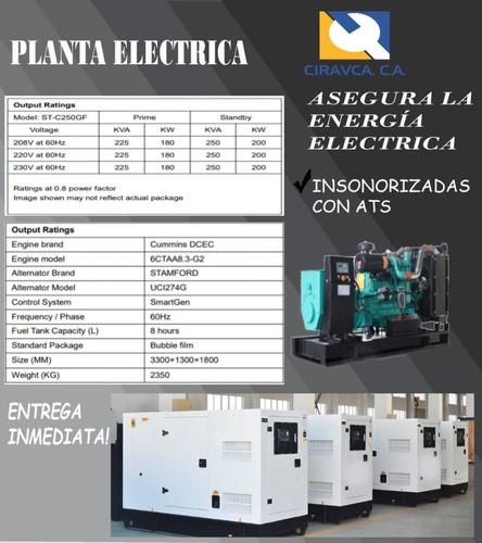 plantas electricas 250 kva, 120kva, 75kva