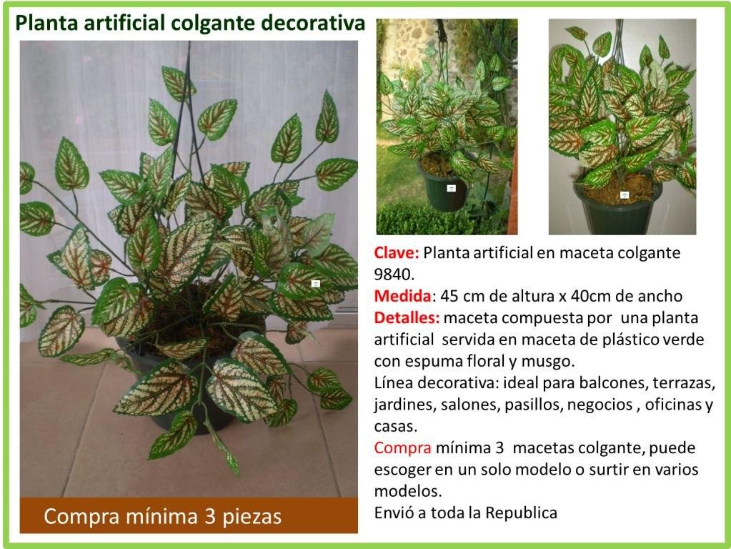 plantas en maceta colgantes artificiales cargando zoom - Plantas Colgantes