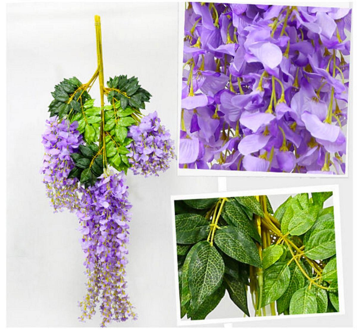 Plantas glicina artificiales para colgar x 12 unidades for Glicina planta