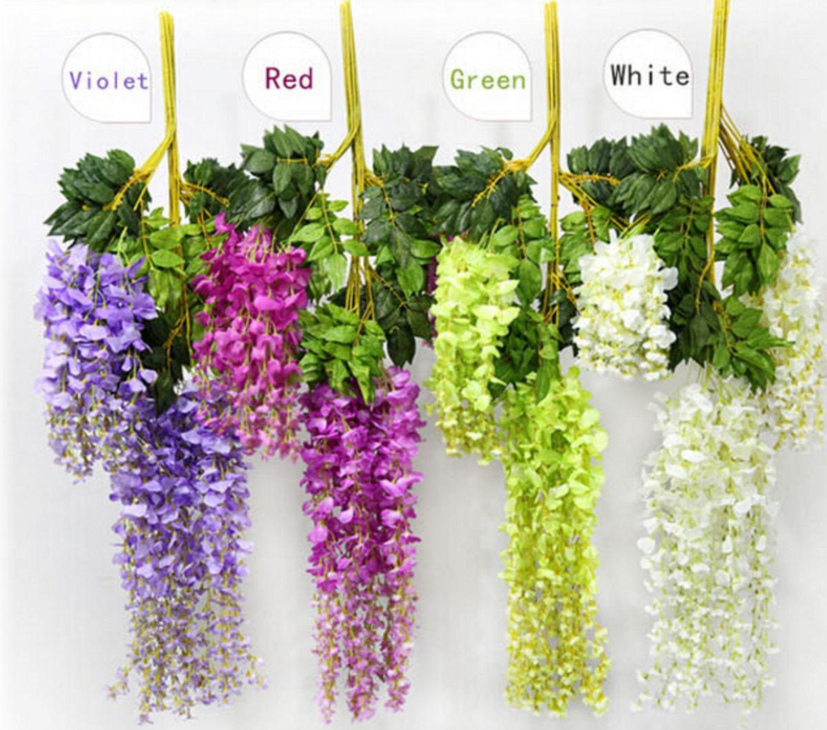 Plantas glicina artificiales para colgar x 24 unidades for Glicina planta