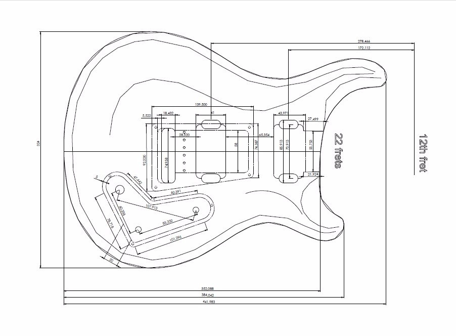 plantas guitarra strato les paul telecaster principais