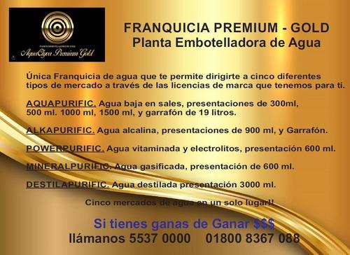 plantas purificadoras premium gold vende 5 tipos de agua!!
