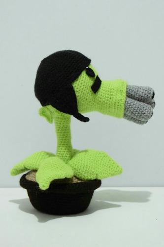 plantas vs. zombies a crochet. peluche amigurumi
