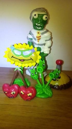 plantas vs zombies adorno de torta