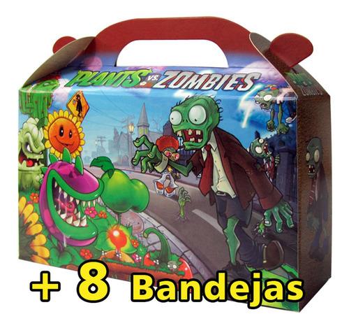 plantas vs zombies combo 35 valijitas golosineras+8 bandejas