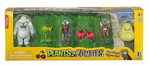 plantas vs. zombies figuras de colección figure set