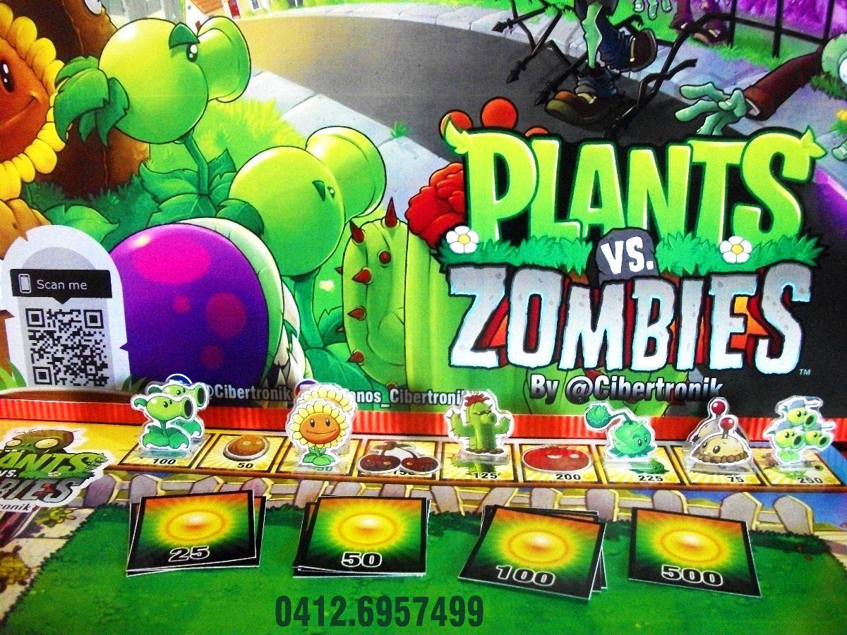 Plantas Vs Zombies Juego De Mesa Diseno Original Bs 90 00 En