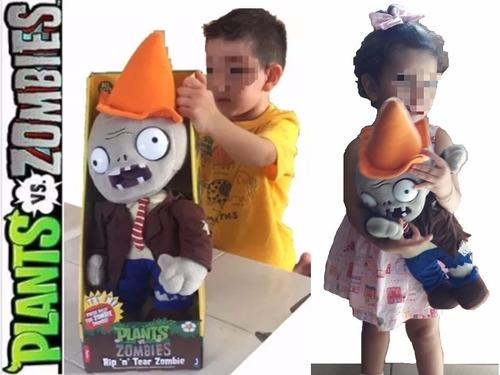 plantas vs zombies muñeco de 45 cms de peluche con sonidos