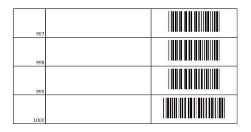 plantilla de 1000 códigos de barras para control interno