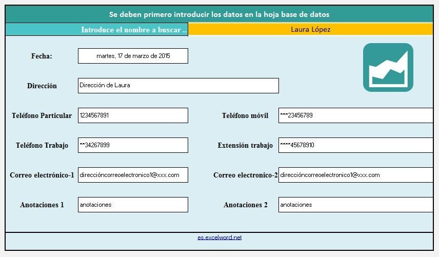 Plantilla De Agenda Telefónica En Excel - Bs. 50.000,00 en Mercado Libre