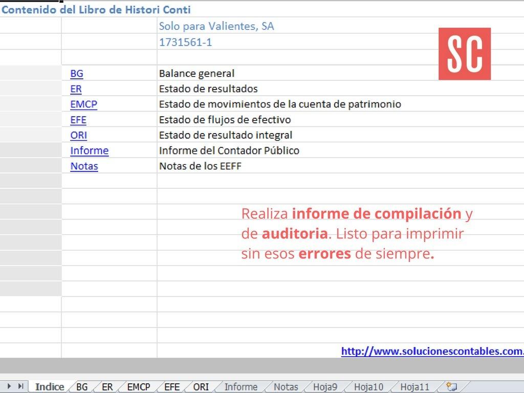 Plantilla De Excel Para Elaborar Estados Financieros - $ 20.000 en ...