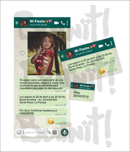 plantilla diseño digital invitacion whatsapp cumpleaños