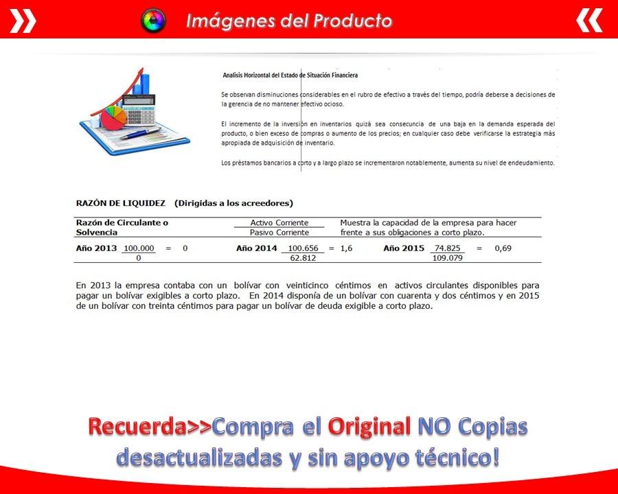 Plantilla En Excel Análisis De Estados Financieros - Bs. 2.000.000 ...