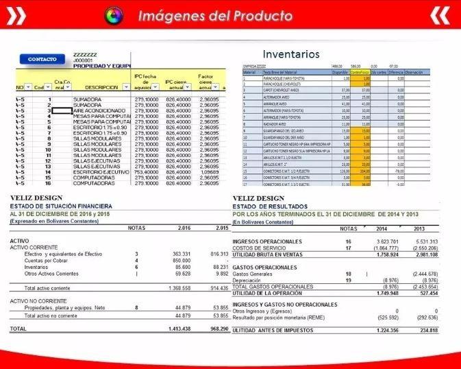 Plantilla En Excel Sistema Contable - $ 99,00 en Mercado Libre