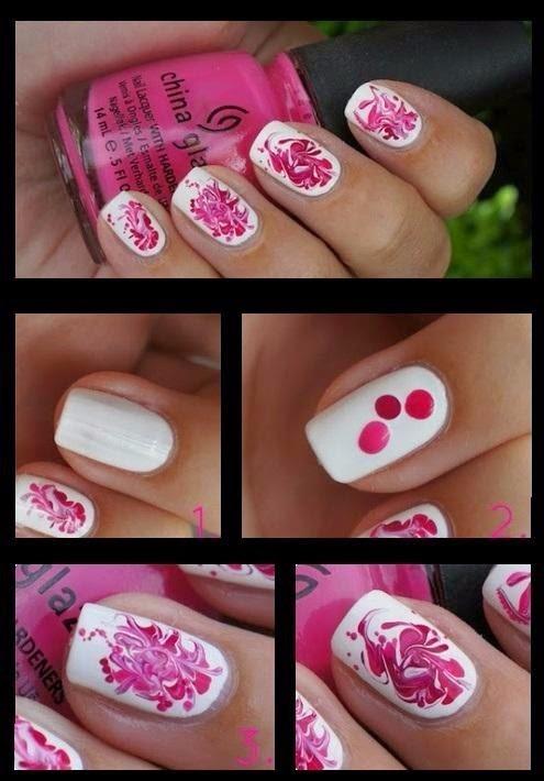 plantilla en pdf para hacer uñas decoración manicure mujer