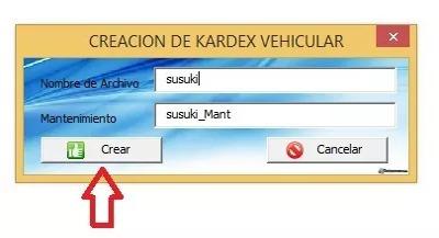 plantilla excel sistema control mantenimiento de vehículos