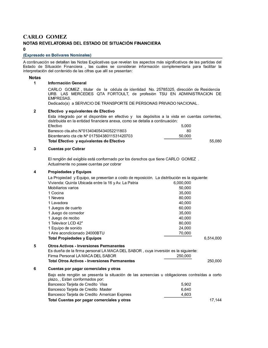 Plantilla Hoja Excel Certificación Ingresos Balance Personal - Bs ...