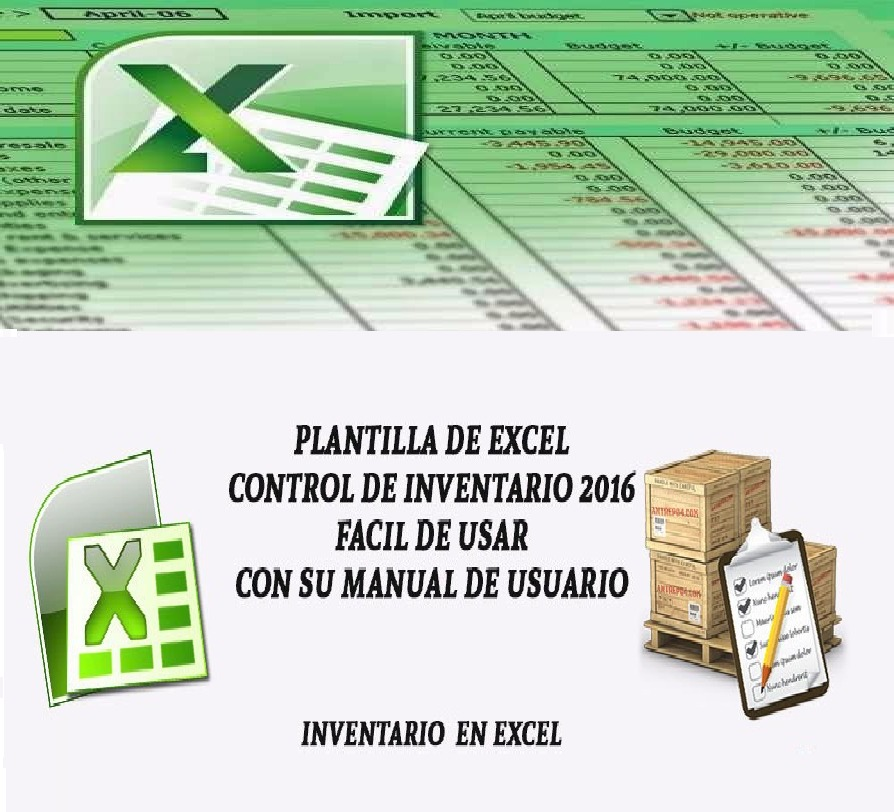 Plantilla Hoja Excel Control De Inventario Entradas Salidas ...