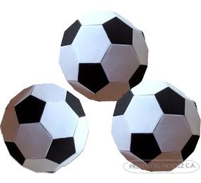 Plantilla Imprimible Balón Fútbol De Papel Decorar Eventos